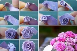 Схема изготовления цветка из ткани