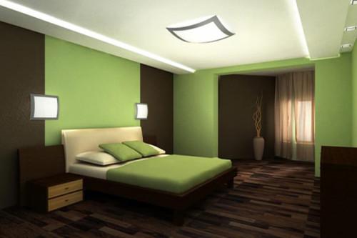 Двухцветный интерьер помещения