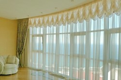 Применение французских штор в больших помещениях