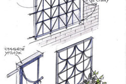 Схема крепления решетки на окно