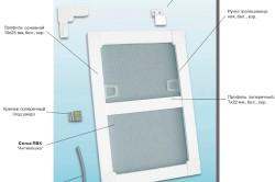Схема устройства москитной сетки на окно