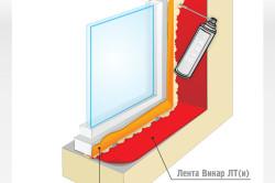 Герметизация швов оконной рамы с помощью монтажной пены