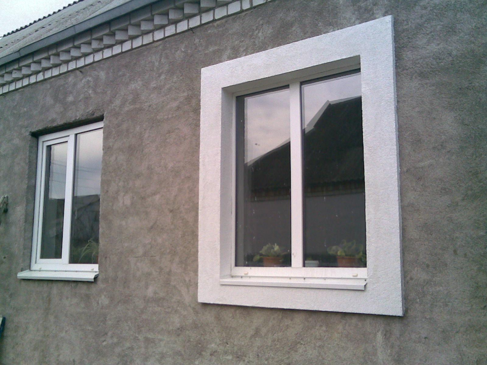 Окно с откосами из пенопласта