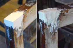 Шпаклевание деревянной рамы
