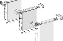 Схема крепления рулонной конструкции