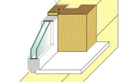 Фрагмент монолитной коробки с пазом в срубе («шип-монолит»)