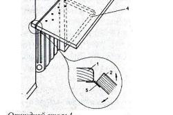 Схема откидного стола, прикрепленного к подоконнику