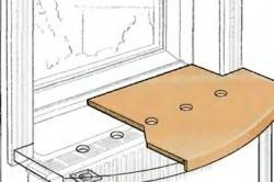 Вентиляционные отверстия для стола-подоконника