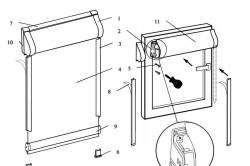 Строение и этапы установки рулонной шторы