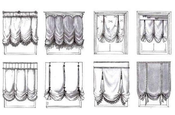 Разновидности австрийских штор