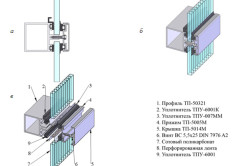 Схема крепления окна из поликарбоната