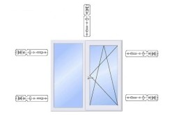 Схема расположения анкерных пластин при монтаже