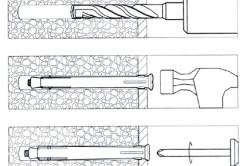 Схема установки оконного анкера