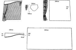 Схема штор с жестким ламбрекеном