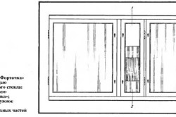 Установка форточки с помощью наружного стекла