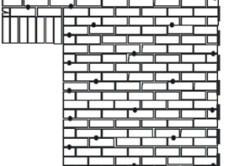 Расположение анкеров в зоне оконных и дверных проемов при облицовке газобетонных стен кирпичом