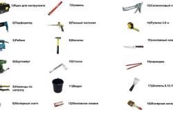 Инструменты, используемые при монтаже откосов