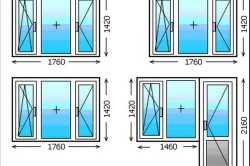 Размеры трехстворчатых окон