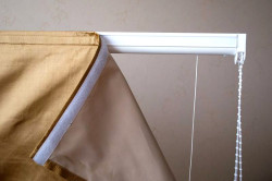 Крепление подъемной шторы к карнизу