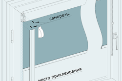 Схема монтажа шторы на саморезы