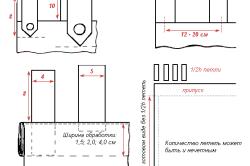 Схема петлей на шторах