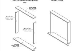 Схема обсадной коробки деревянного окна