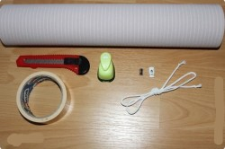 Инструменты и материалы для жалюзи из обоев