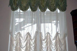 Римские шторы из органзы