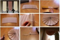 Этапы изготовления жалюзи из бумаги своими руками