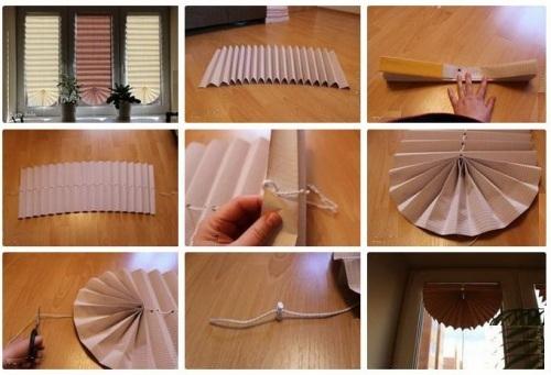 Как сделать жалюзи своими руками бумажные из обоев 11