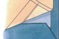 Схема соединения штор и подкладочной ткани