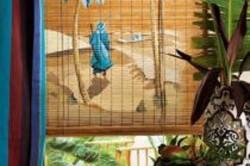 Роспись на бамбуковых шторах