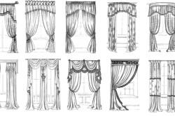 Варианты декорирования занавесок