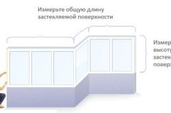 Схема снятия замеров для остекления балкона
