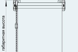 Схема замеров оконного проема для монтажа римских штор