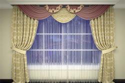 Прямые шторы с ламбрекеном