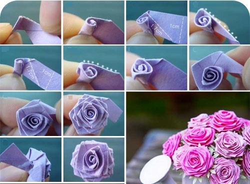 Схема изготовления цветка из