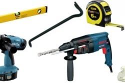 Инструменты для установки подоконника