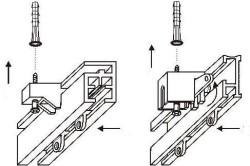 Схема установки потолочного карниза из алюминиевого профиля