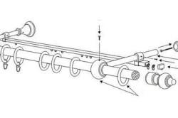 Схема установки типичного карниза