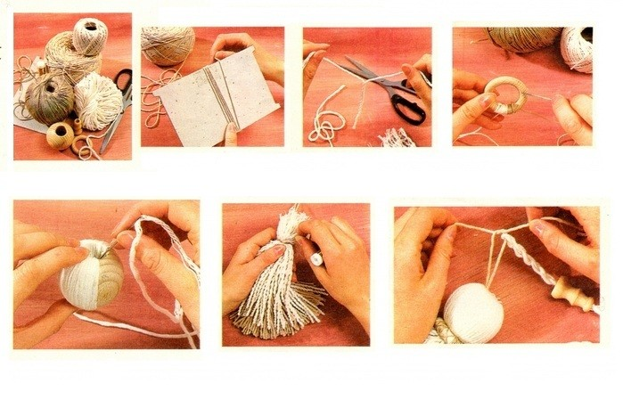 Как своими руками сделать кисти для штор своими руками