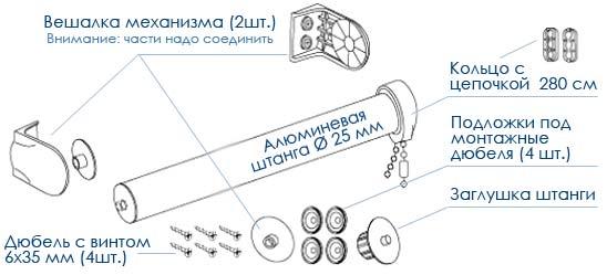 Схема сборки механизма