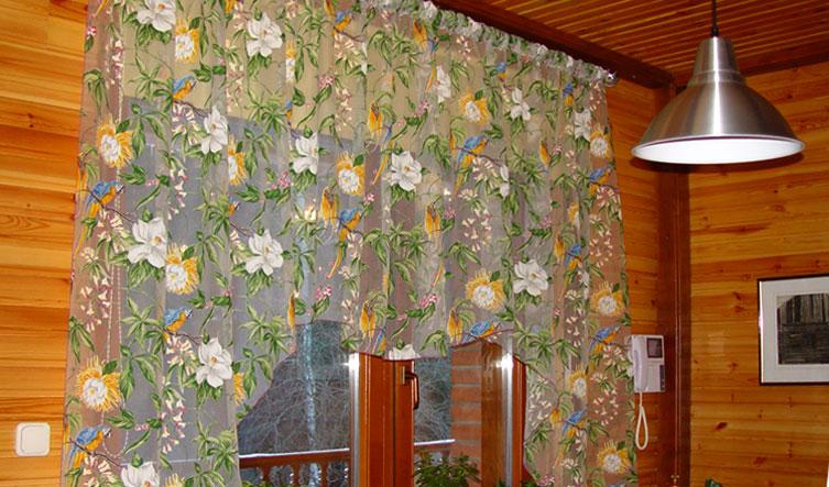 Кухонные шторы из органзы своими руками
