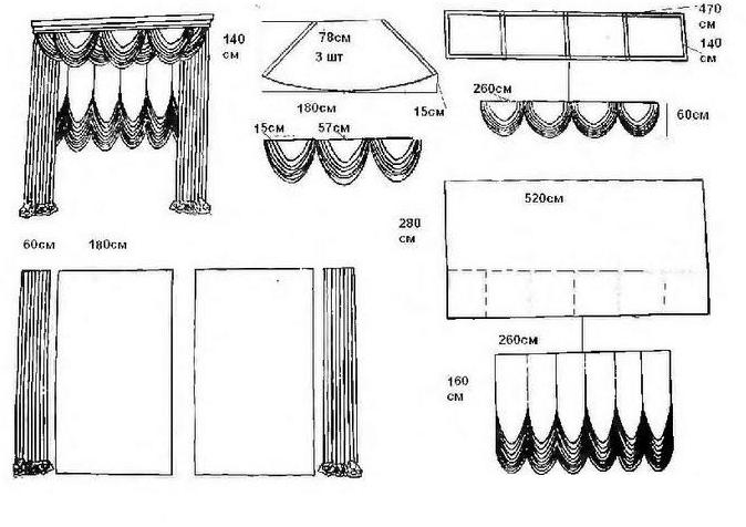 Французские шторы своими руками фото