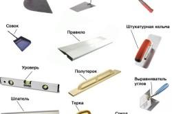 Инструменты для оштукатуривания откосов