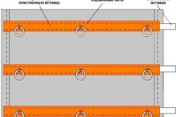 Схема жалюзи из ткани