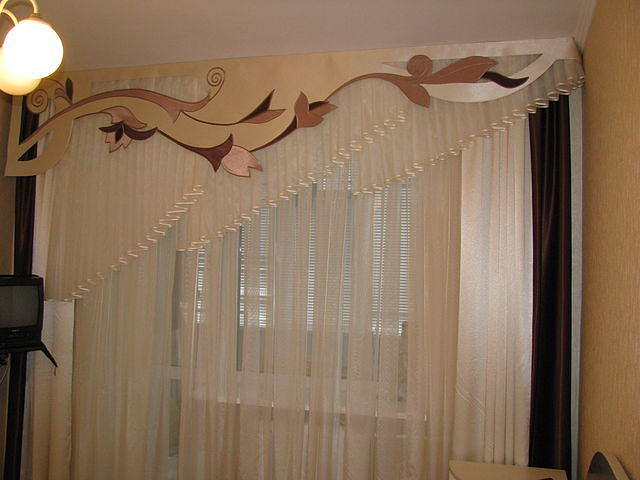 Бандо для штор фото с узором своими руками