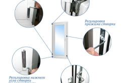 Общая схема регулировки пластикового окна
