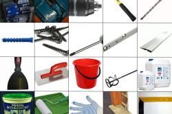 Инструменты и материалы для установки откосов