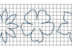 Трафареты цветов из бумаги для украшения штор